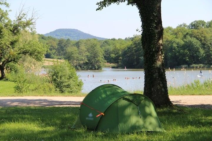 Emplacement 2 personnes dans un camping familial.