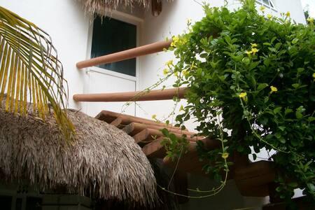 Bright Open Studio, Outside Deck - Playa del Carmen