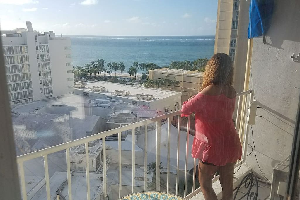 From the Balcony you will see Isla Verde Beach, San Juan Hotel and ESJ Azul.  Looks Awesome even better in Real Life!!