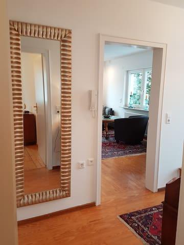 Eingangsbereich mit Blick ins Wohnzimmer!
