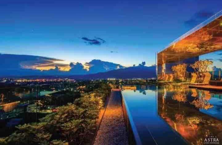 清迈地标ASTRA高端酒店式景观房公寓 A8@长康路夜市 @毗邻香格里拉大酒店@高端乳胶枕床品