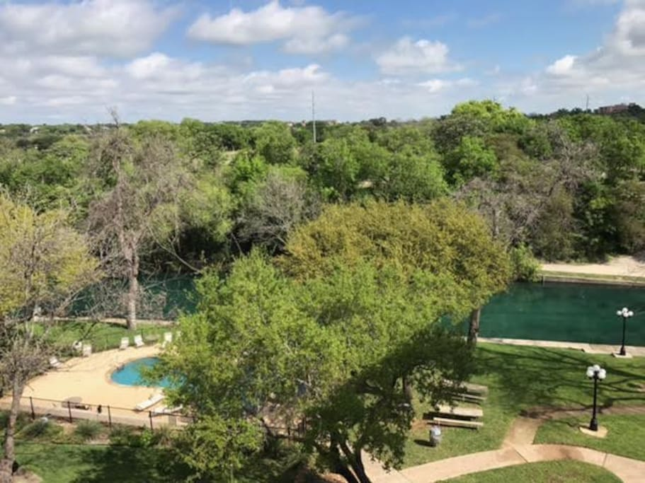View of pool and Comal River