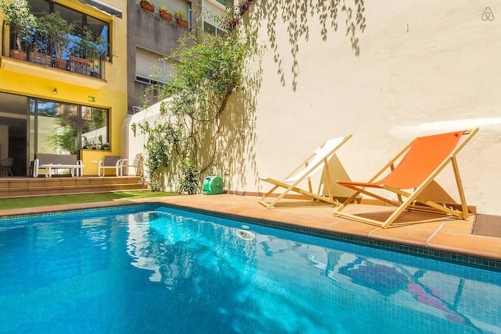 Modern Apartment in Gracia with Private Pool