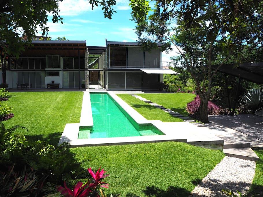 Fabulous solar-heated lap pool