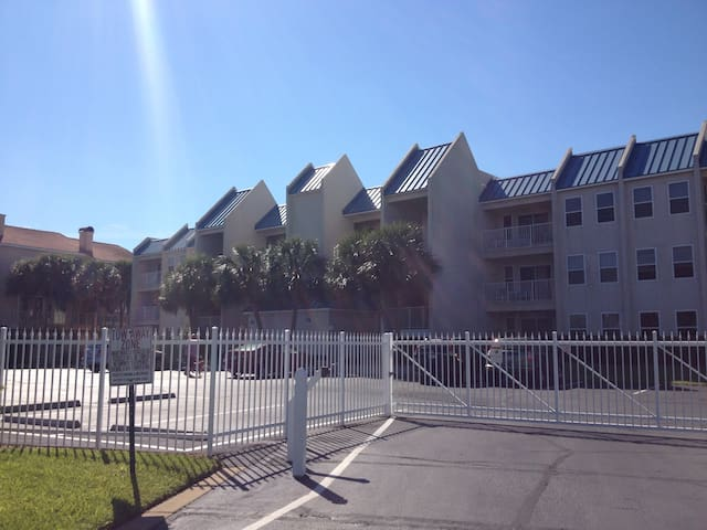 Gated community view from Gulf Shore Drive
