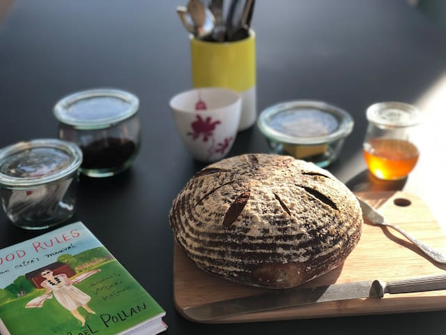 We love to share our home-baked sourdough bread