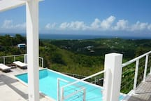 360Vieques ~ hilltop villa with private pool.   Enjoy the views of the Caribbean Ocean, the natural reserve and the neighboring islands; Puerto Rico, Culebra, St Thomas, St John, and St Chroix, from the house.