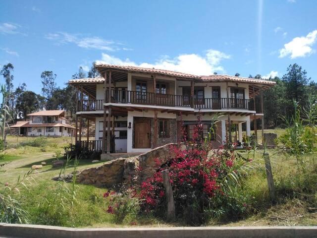 Habitaciones casa campestre a 7min Villa de Leyva