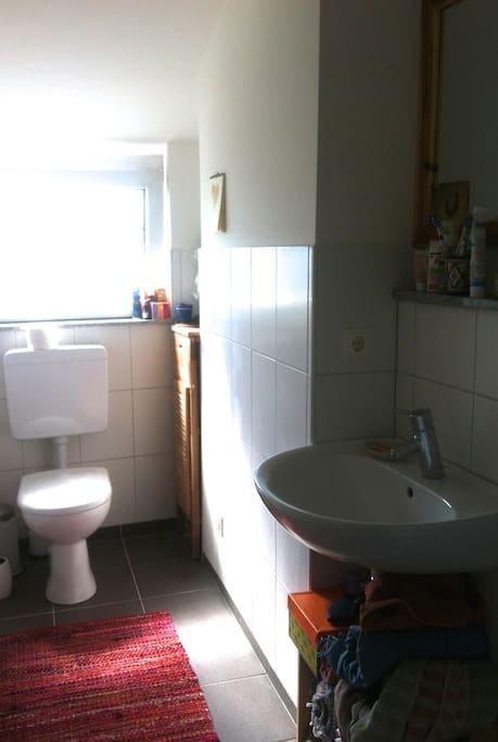 Das Bad: klein, aber fein