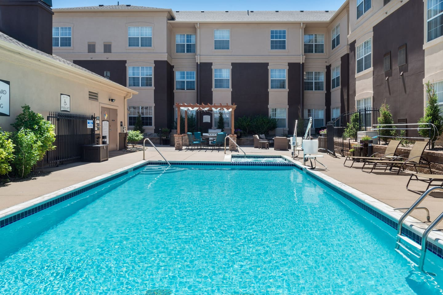Get some sun in the outdoor pool.