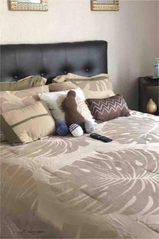 Queen Size Bed in guest room