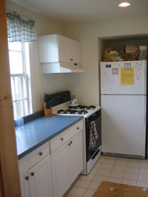 Kitchen , fridge, dishwasher,micro with gas stove
