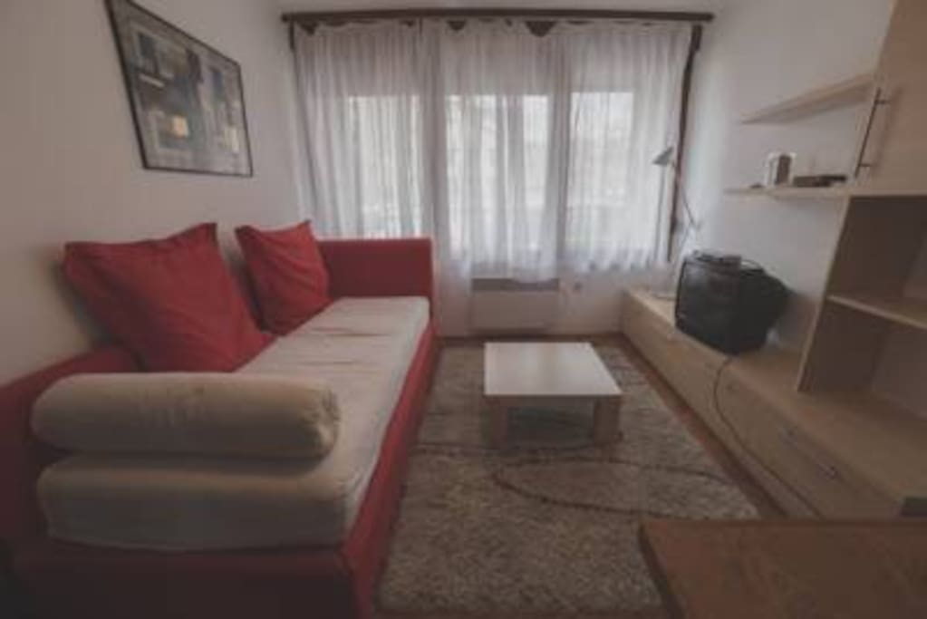 Living room during day/Sleeping room during night