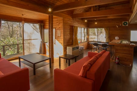 Large Lodge with Real Onsen!/for Ski and Mt./8ppl