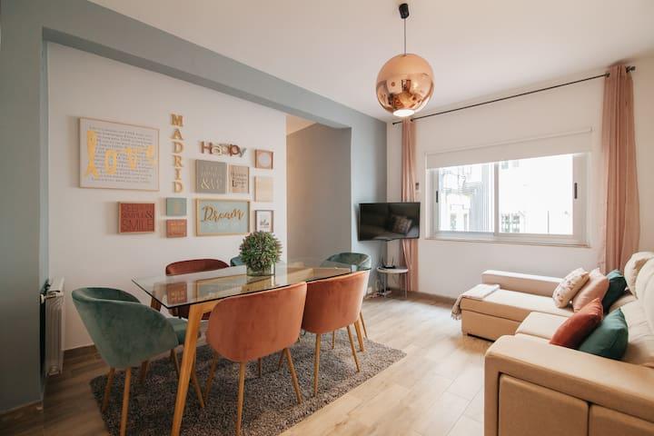 Latina cozy flat  3 BR, 1 BTH R, 80 sq.m, 6 peop