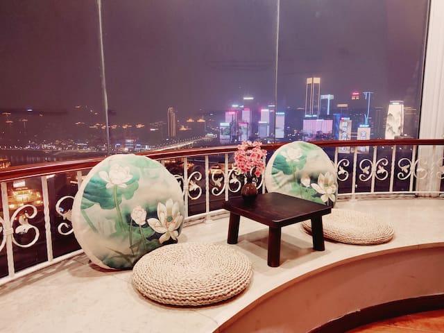 【杜舍 铭居】洪崖洞 解放碑江景楼阁-270度观景大床房