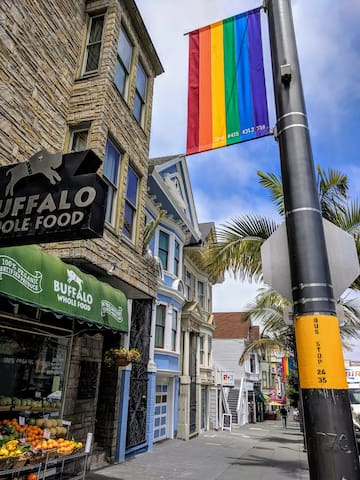 This is a great spot. The location couldn't be better. Footsteps from the heart of the Castro & all of the great eateries, bars & shops -but just removed enough to be quiet. The apartment is huge & every detail has been considered - Review by Charlie