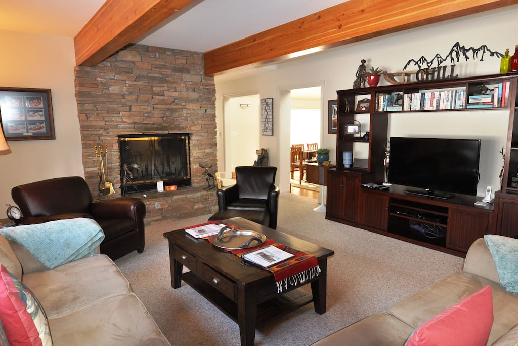 Family Room with Fireplace and HDTV