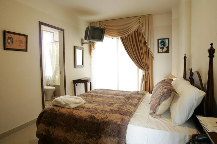 Deluxe Room at Theodos Lodge Hotel by Hansa a full room view