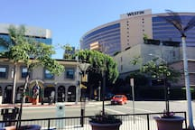 Westin Hotel, Restaurants, Boutiques, Shopping District outside your door. This is the view from your window.