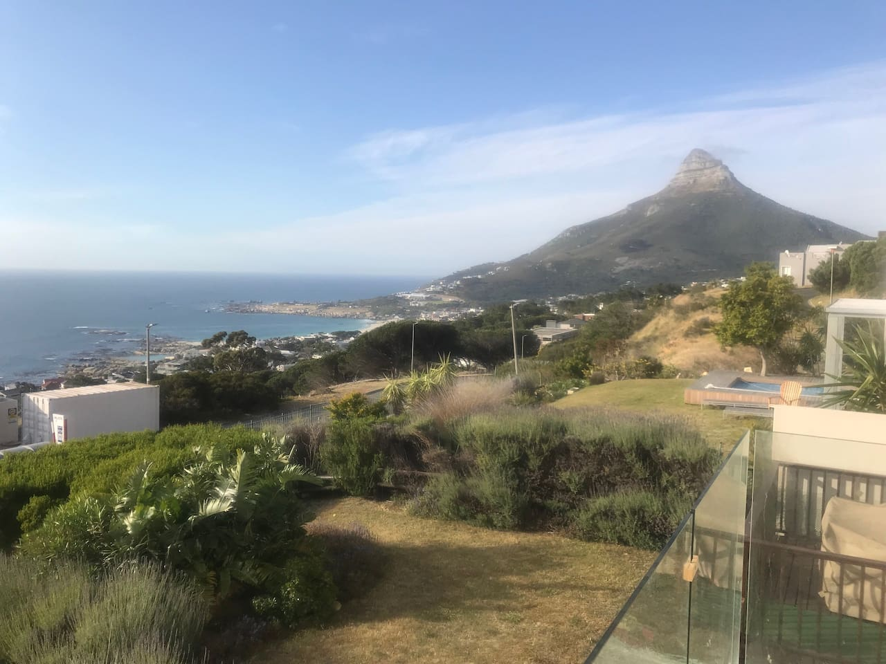 View from both bedrooms (Lions Head and Camps Bay beach)