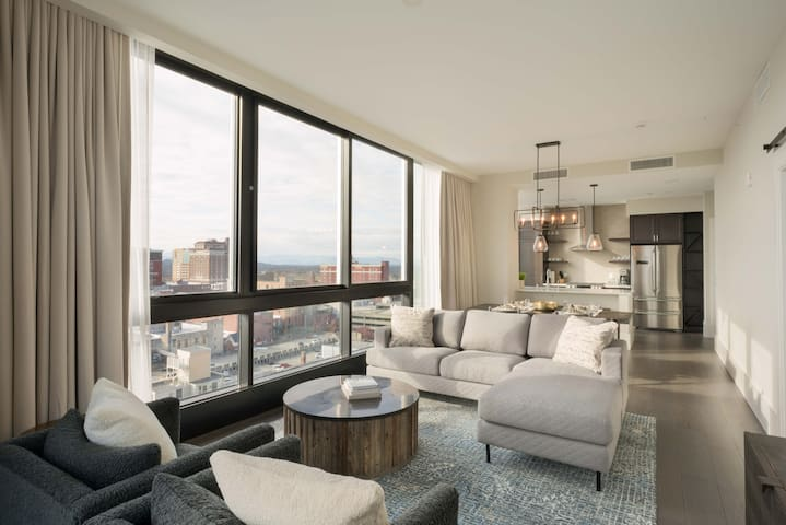 Luxury Downtown Asheville Condo with Mountain Views at Arras Residences Unit 1002
