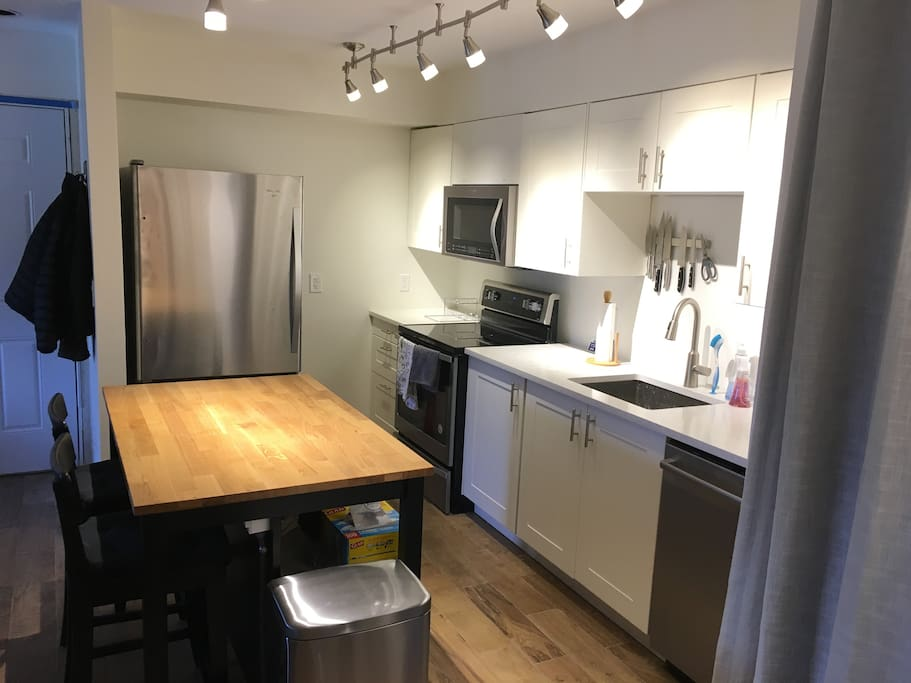 Newly renovated kitchen with brand new appliances