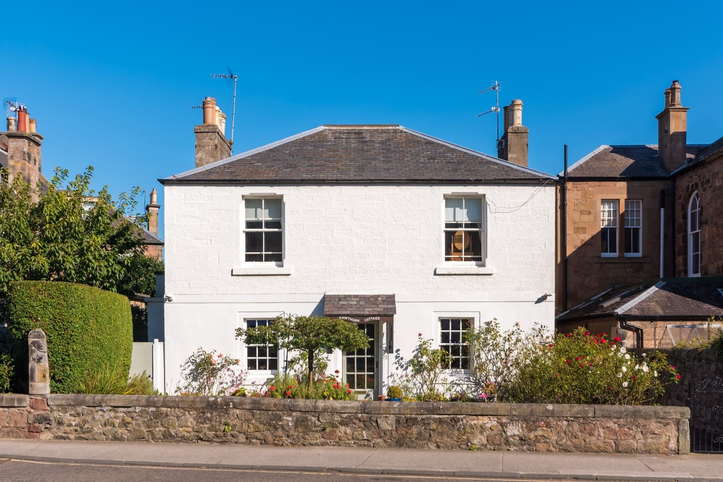 Whitehaven forms the upper part of this traditional stone house