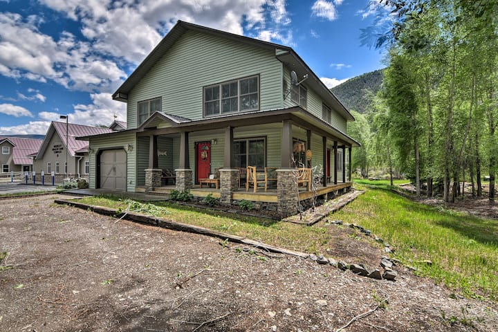 NEW! Riverfront House with Fire Pit and Hot Tub!