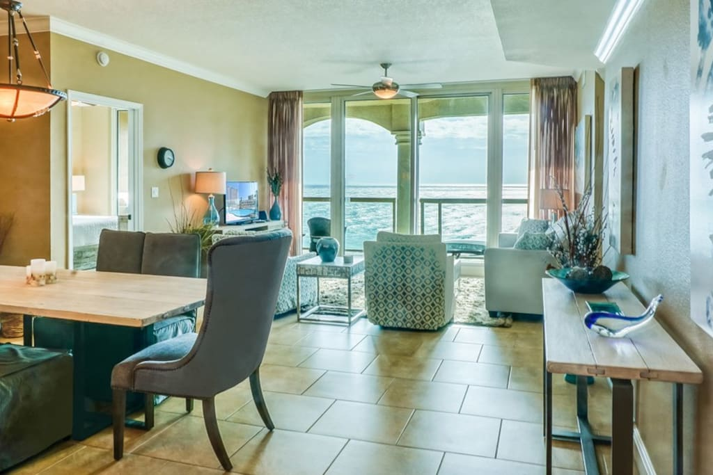 Open spacious living/dining area allows everyone to be together