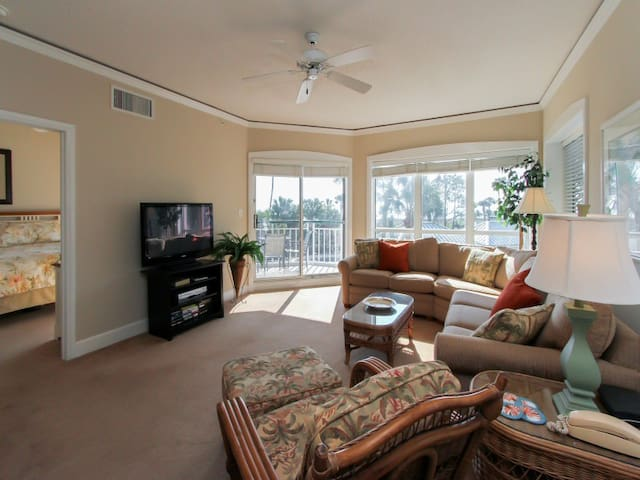 Living Room with Ocean Views at 4110 Windsor Court North