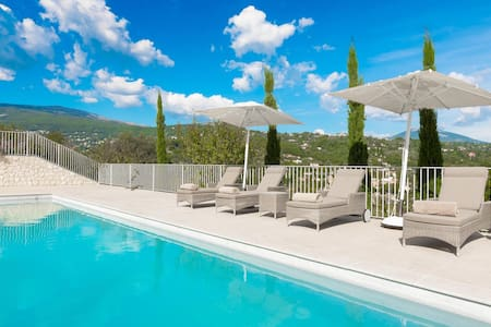 Contemporary Villa with beautiful views - Châteauneuf-Grasse