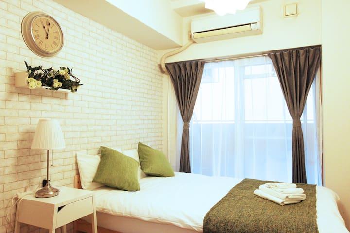 Namba 5mins★USJ 20mins★Easy to Airport★Green★33 - Nishinari-ku, Ōsaka-shi - Apartment