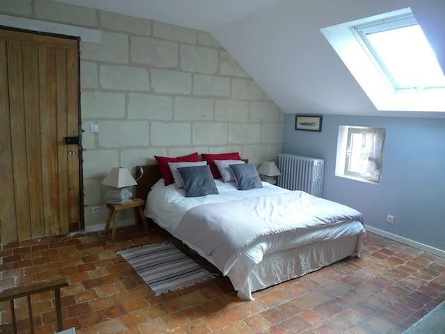 Grande chambre dans une maison de caractère - 索米爾(Saumur) - 獨棟