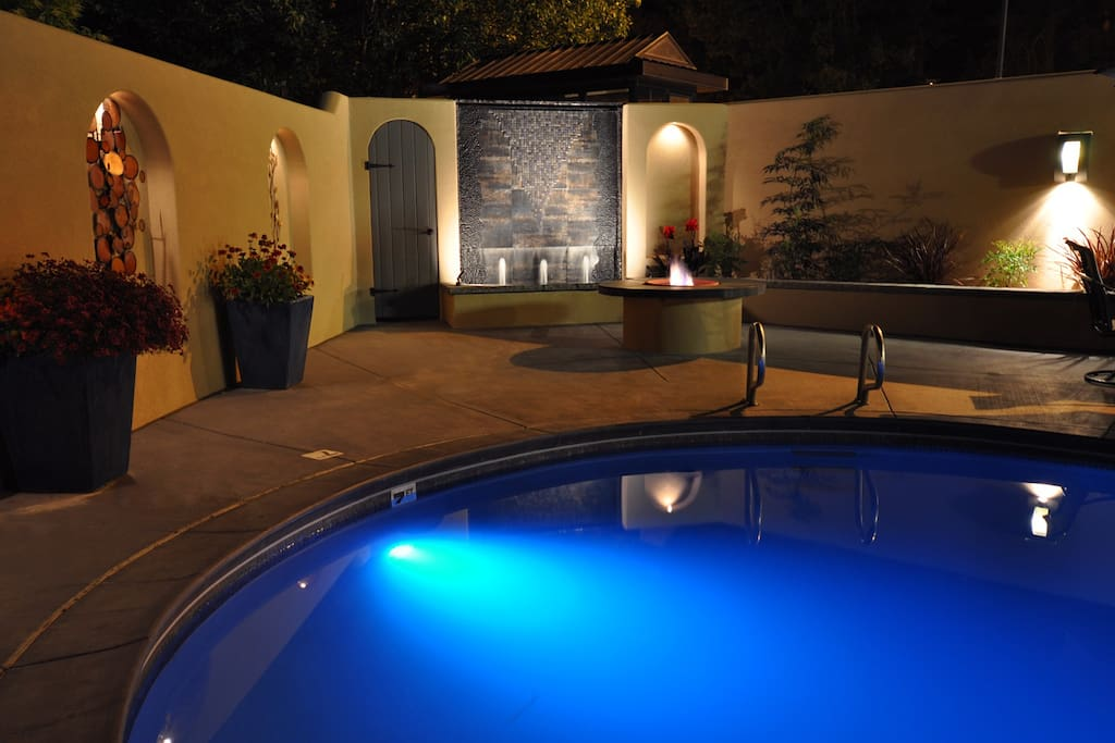Heated salt water pool and outdoor firepit available March - November
