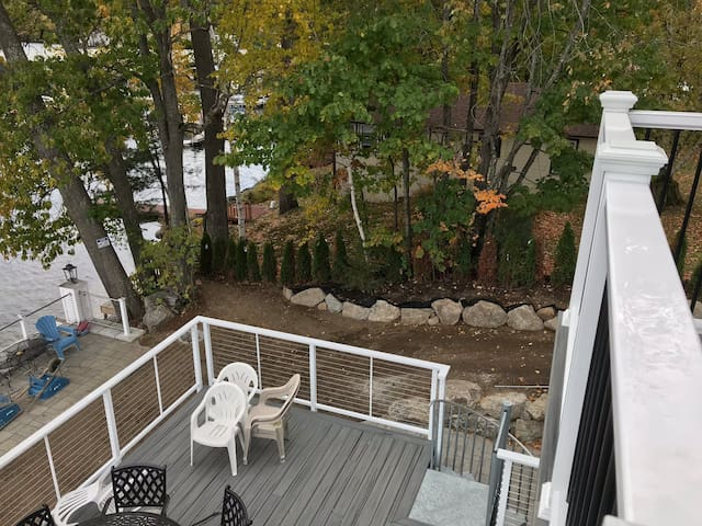 Overlooking the right side from Master Bedroom Balcony 20' x 30' deck below