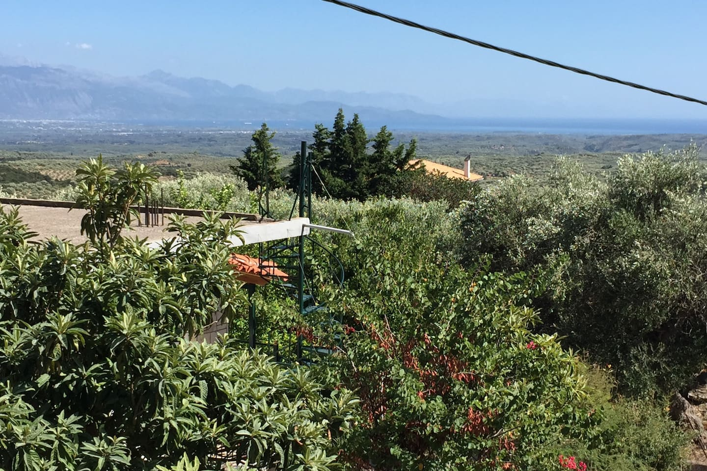 Panoramic view from top  of the house overlooking Messinian Bay