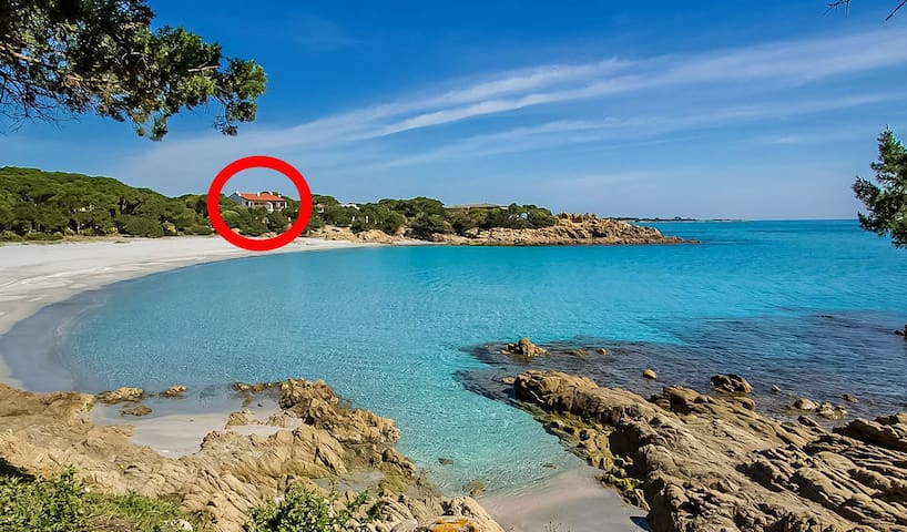 Cala Liberotto: Apartment in front of the beach