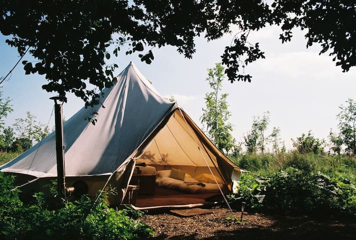 Glamping near Bath with indoor pool