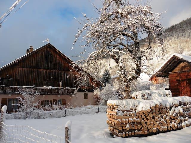 Grand chalet tout confort dans hameau de montagne - Saint-Jean-de-Tholome