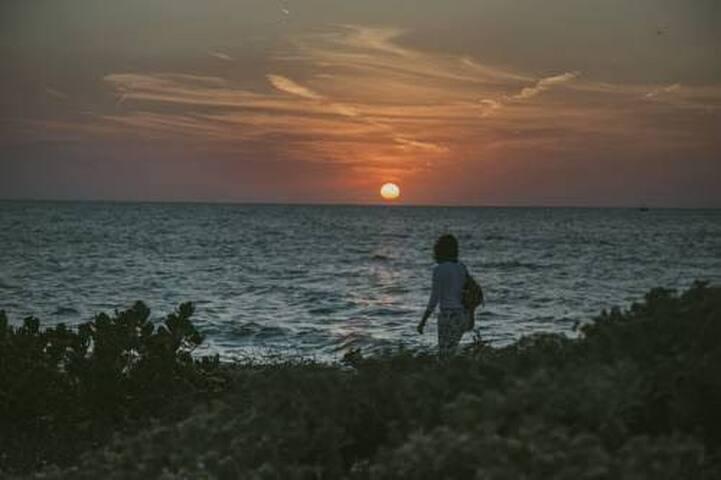 Relax watching a beautiful sunset