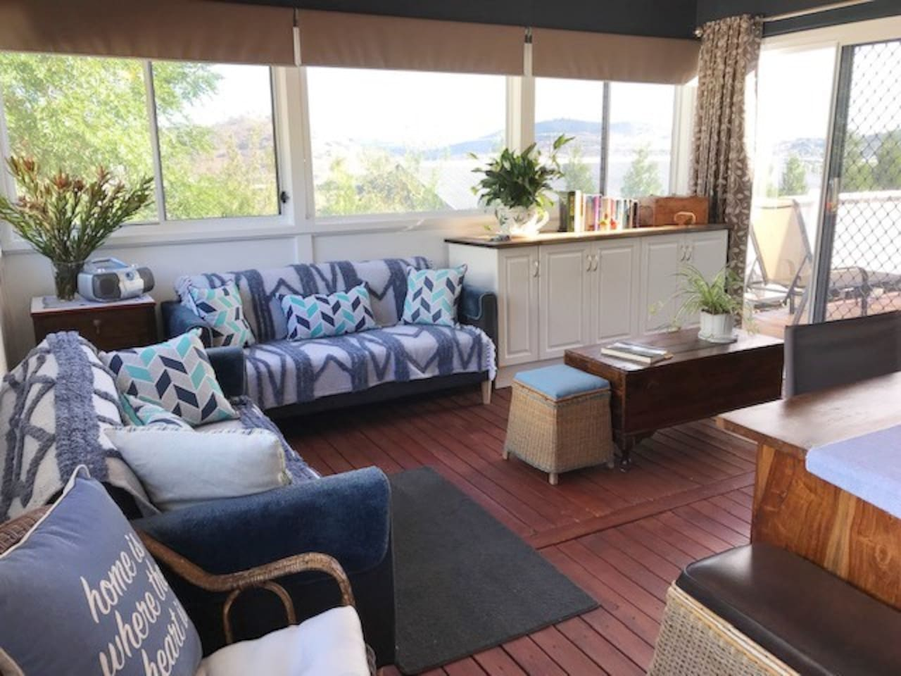 Enjoy the scenery from your private sitting/sunroom