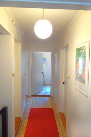 Hall 2 Bedroom and Bathroom floor
