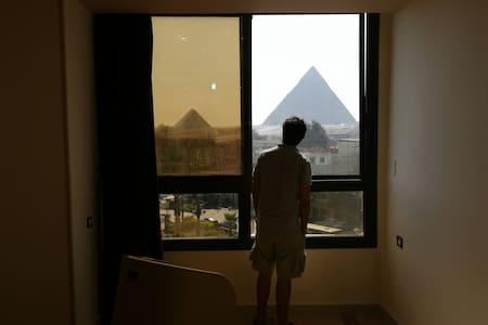 Happy days pyramids view