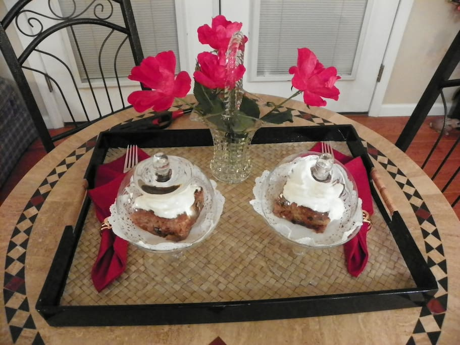 Your evening desert, Supreme Carrot Cake with Caramel Cream Cheese frosting