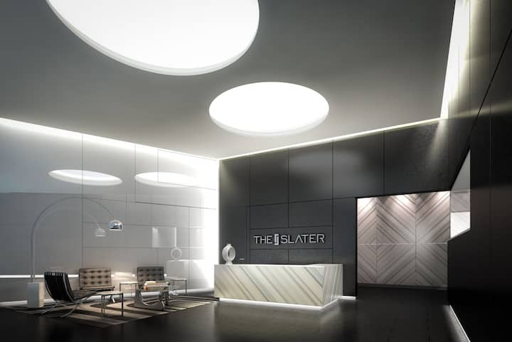 Modern, large, luxury 1BR downtown
