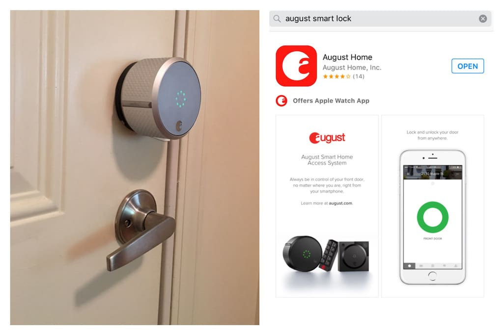 The moment you book with me you'll be sent a link for you to download an eKey. The eKey lets you open my front door with your phone (or Apple Watch!) for the entire duration of your stay.