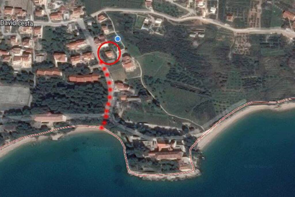 """La Casa del Capitano"" is located only 100 meters from the beautiful beaches ( Martinica, Portic and Kotlina). Nearby there are several restaurants and bars. We are away from the center of Bol only 10 minutes on foot, by car it will take not more than 2 minutes."