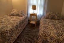 Comfy twin bedroom