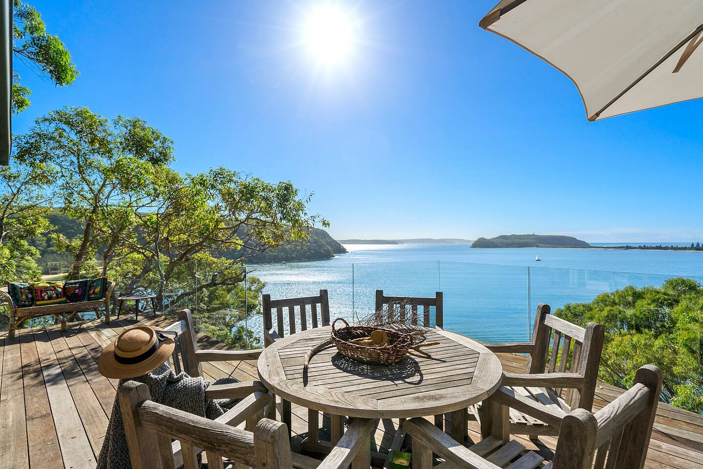 Palm Beach, Pittwater and Central Coast Views from the North Easy Facing Entertainment Deck.